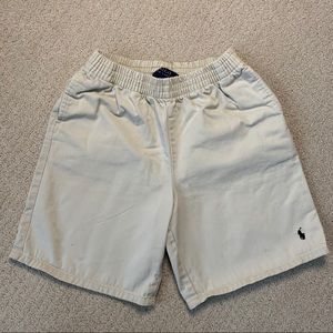 POLO Khaki Elastic Waistband Shorts - Boys Size 7